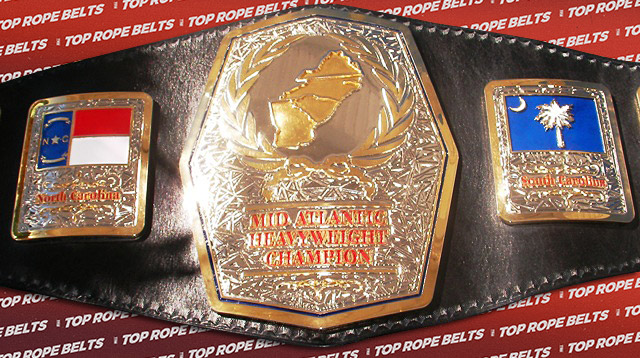 Dual Plated Mid Atlantic Belt Top Rope Belts