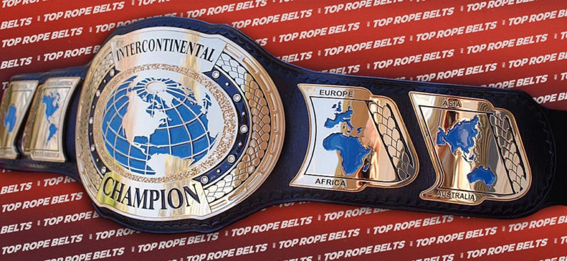 Trb Oval Intercontinental Championship Belt Top Rope Belts