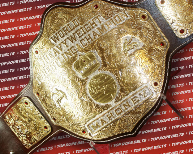 Textured 90 S Style Big Gold Championship Belt Top Rope