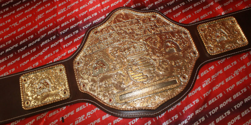 Jeweler Style Big Gold Belt Top Rope Belts