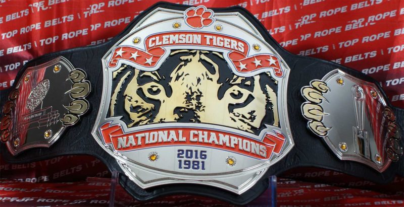 Clemson Tigers National Champions Belt Top Rope Belts