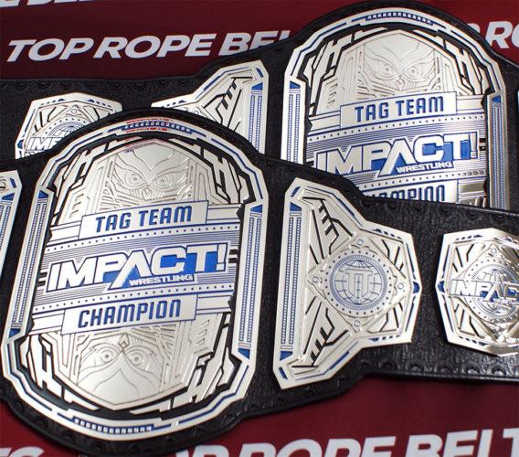impact wrestling tag team title belts