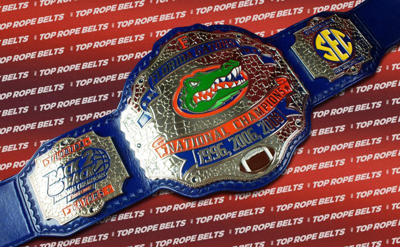 Florida Custom Plates >> Florida Gators Championship Belt | Top Rope Belts