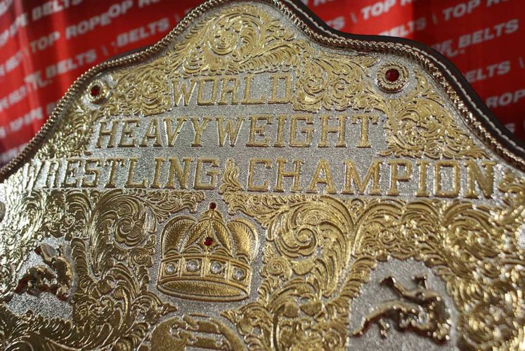 i'll play football_Carved Big Gold World Heavyweight Wrestling Champion Ric Flair Belt | Top Rope Belts